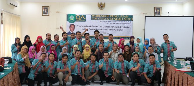 Workshop Penguatan Mutu Tim Gugus Kendali Mutu